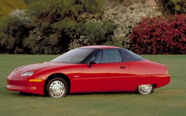 red 1997 GM EV1