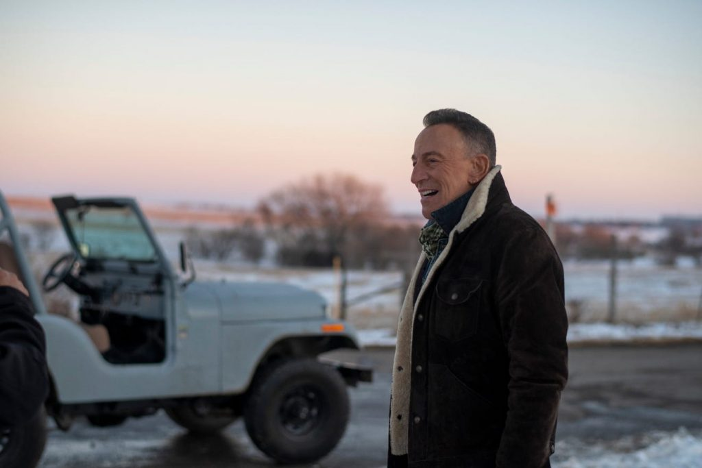 "Bruce Springsteen in Jeep Super Bowl LV ad, ""The Middle"" by a CJ-5"