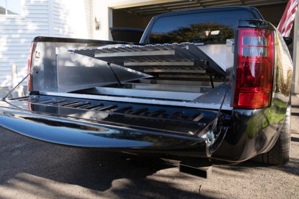2006 Dodge Charger ute conversion with its bed open