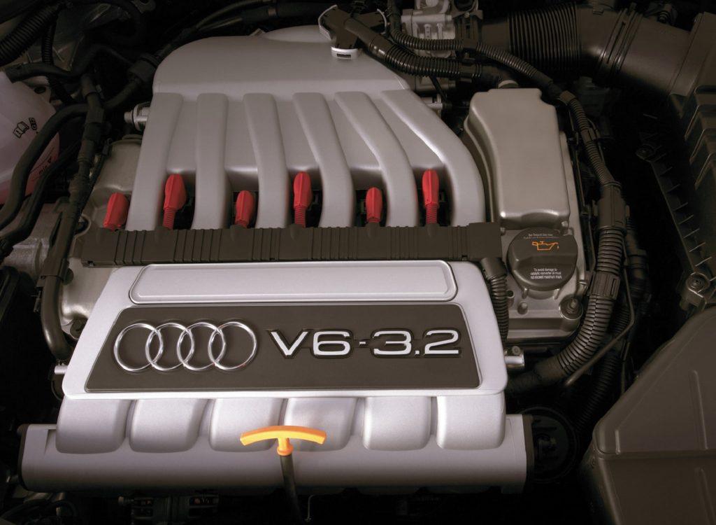 The 3.2-liter Volkswagen VR6 engine in the 2008 Audi TT