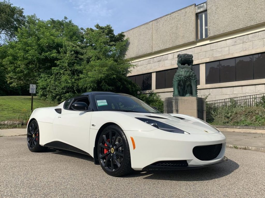 This White on Black 2014 Lotus Evora was just sold new in Connecticut