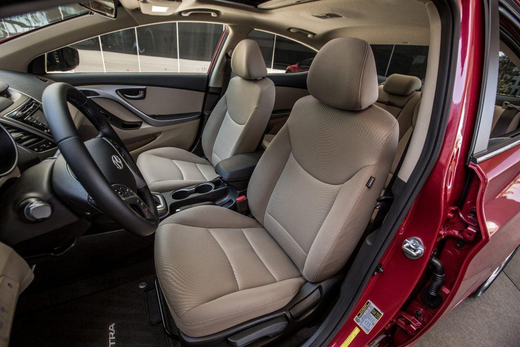 A look inside the spacious interior of the 2016 Hyundai Elantra