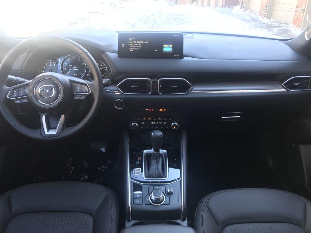 An interior shot of the 2021 Mazda CX-5
