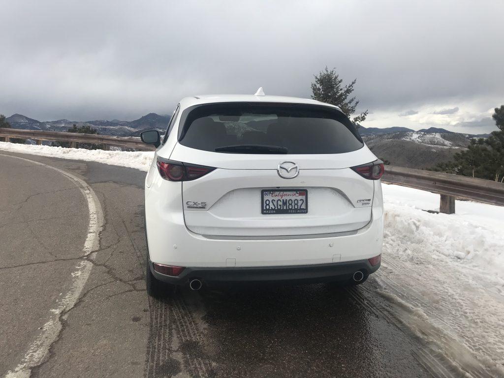 rear shot of 2021 Mazda CX-5