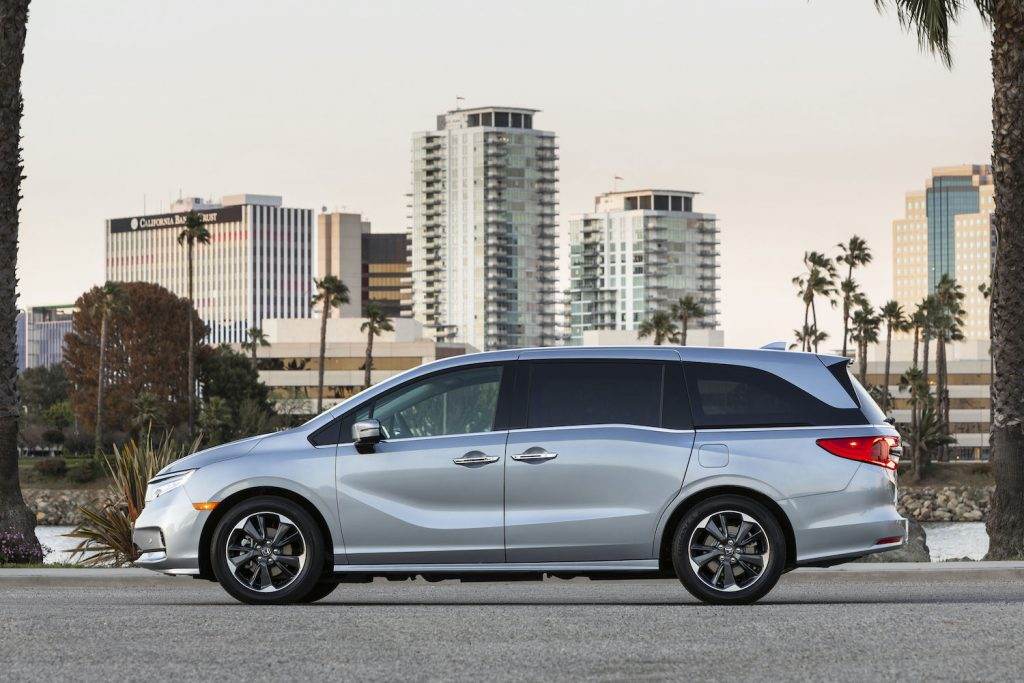 The 2021 Honda Odyssey parked