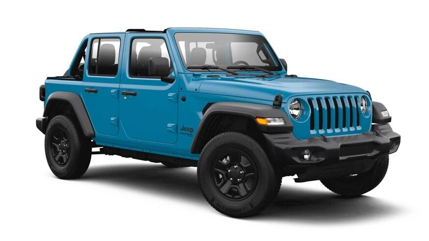 2021 Jeep Wrangler with half doors
