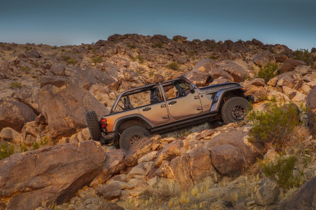 The 2021 Jeep Wrangler Rubicon 392 off-roading