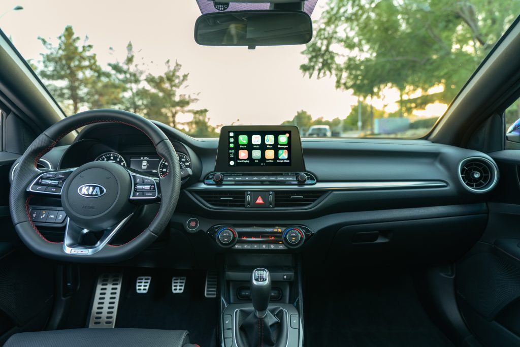 A look at the interior of the 2021 Kia Forte GT