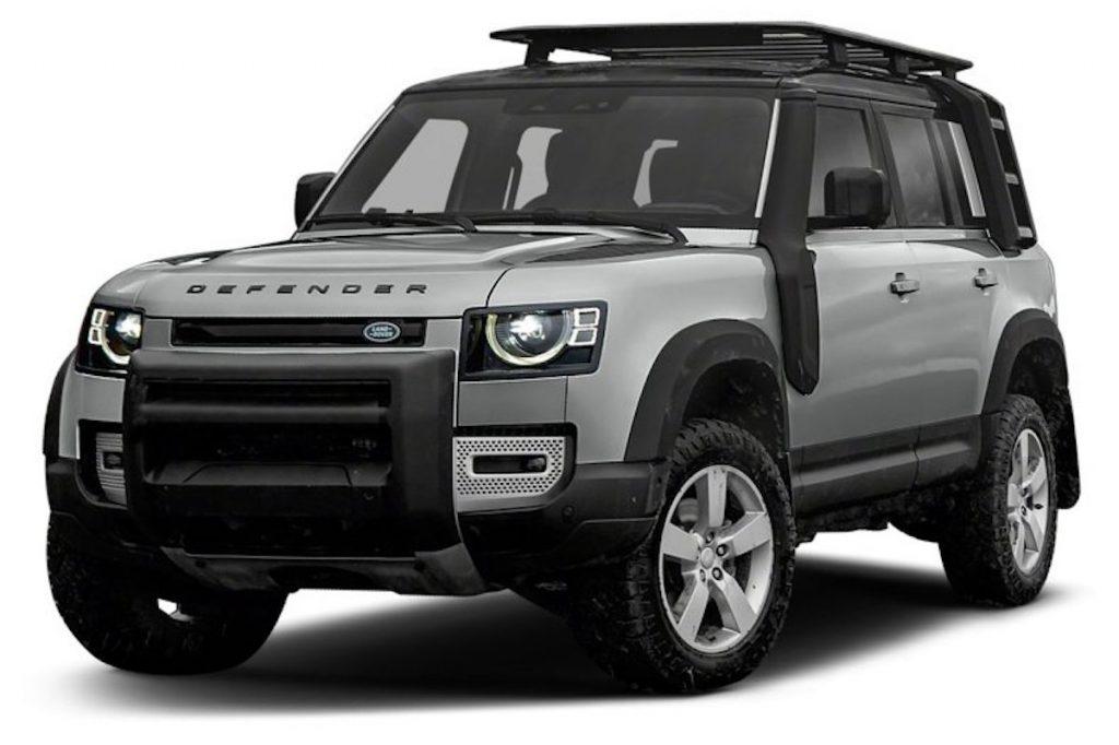 a silver 2021 Land Rover Defender
