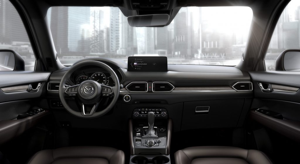 A view of the interior of the 2021 Mazda CX-5