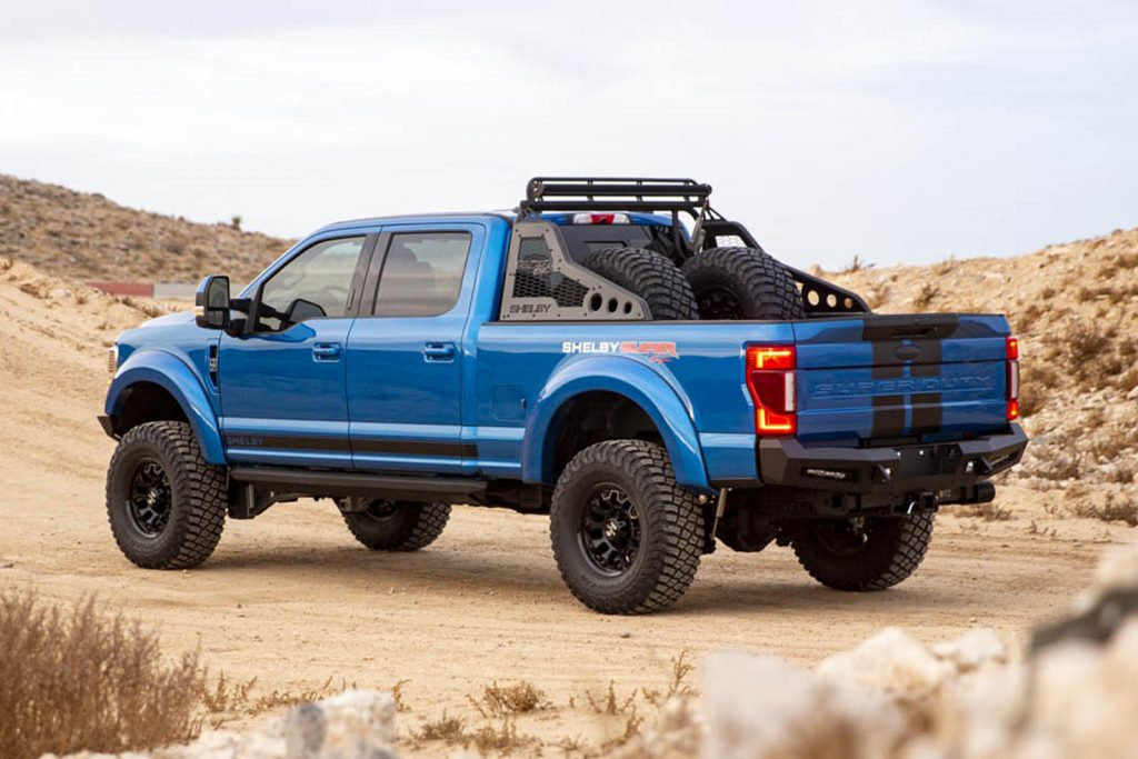 2021 Shelby Super Baja Ford F-250 rear 3/4 view
