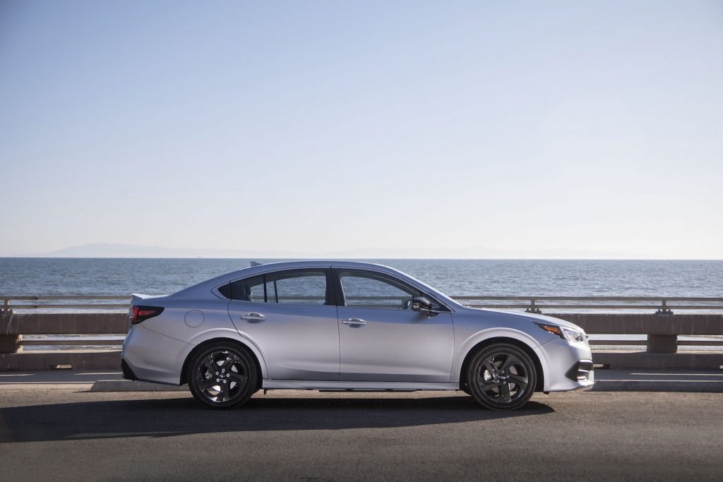 2021 Subaru Legacy parked by the water