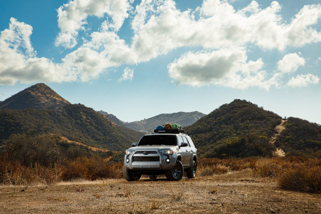 2021 Toyota 4Runner parked in the mountains