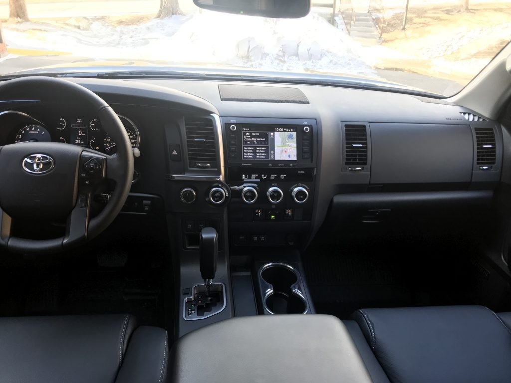 2021 Toyota Sequoia Nightshade Edition interior