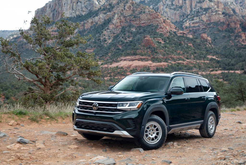 2021 Volkswagen Atlas parked in the wilderness
