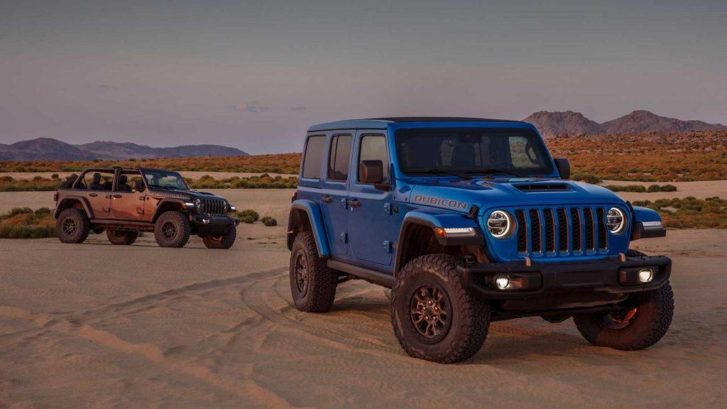The 2021 Jeep Wrangler Rubicon 392 in desert sand