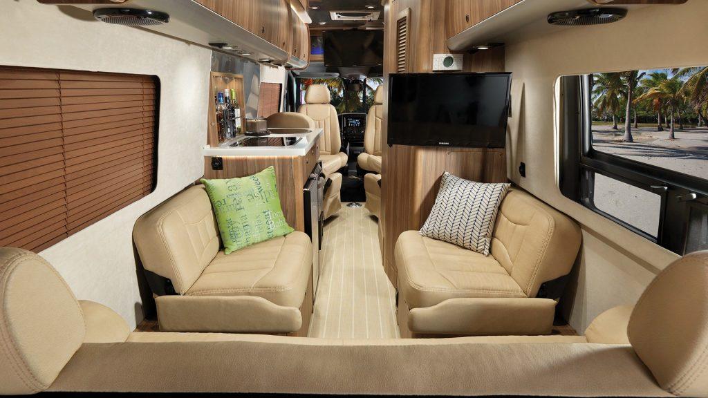 2021 Tommy Bahama Airstream van seating