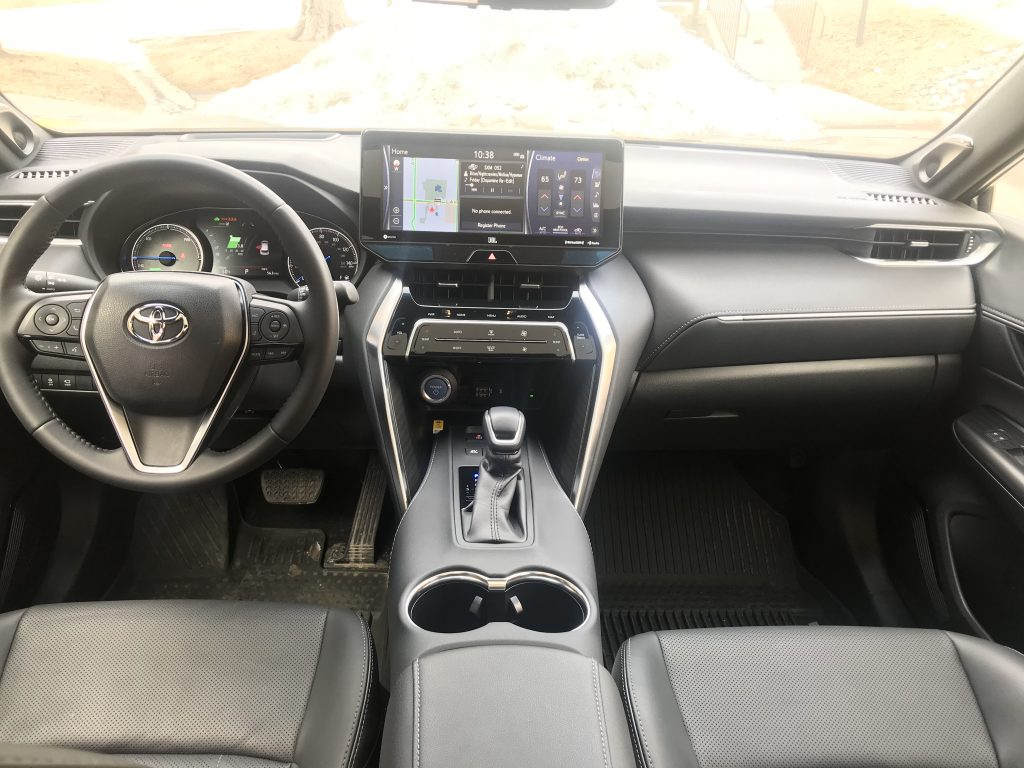 a forward-facing shot of the 2021 Toyota Venza Limited Interior