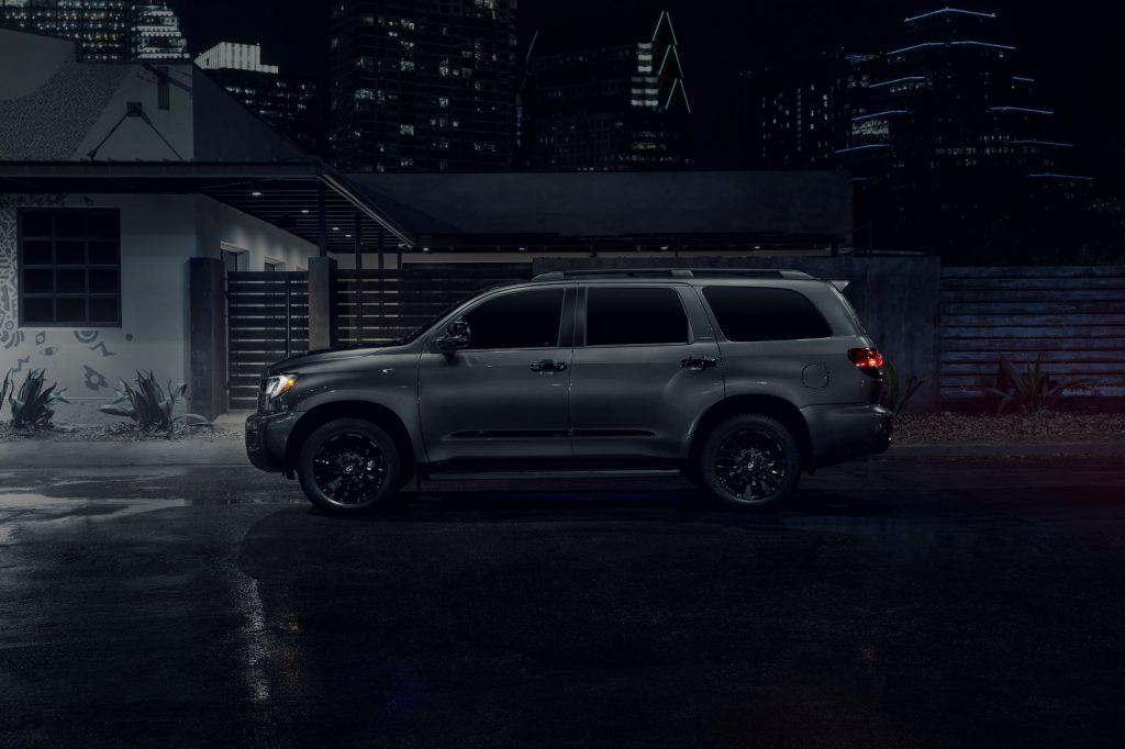 2021 Toyota Sequoia Nightshade Edition side shot