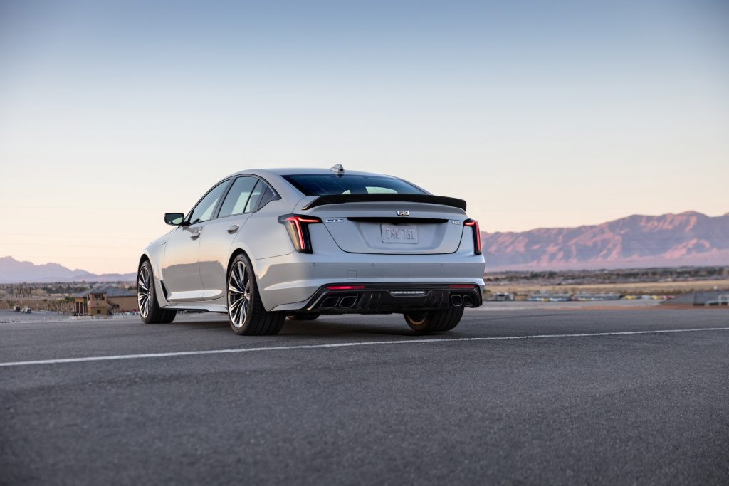 An image of a Cadillac CT5-V Blackwing on a track.