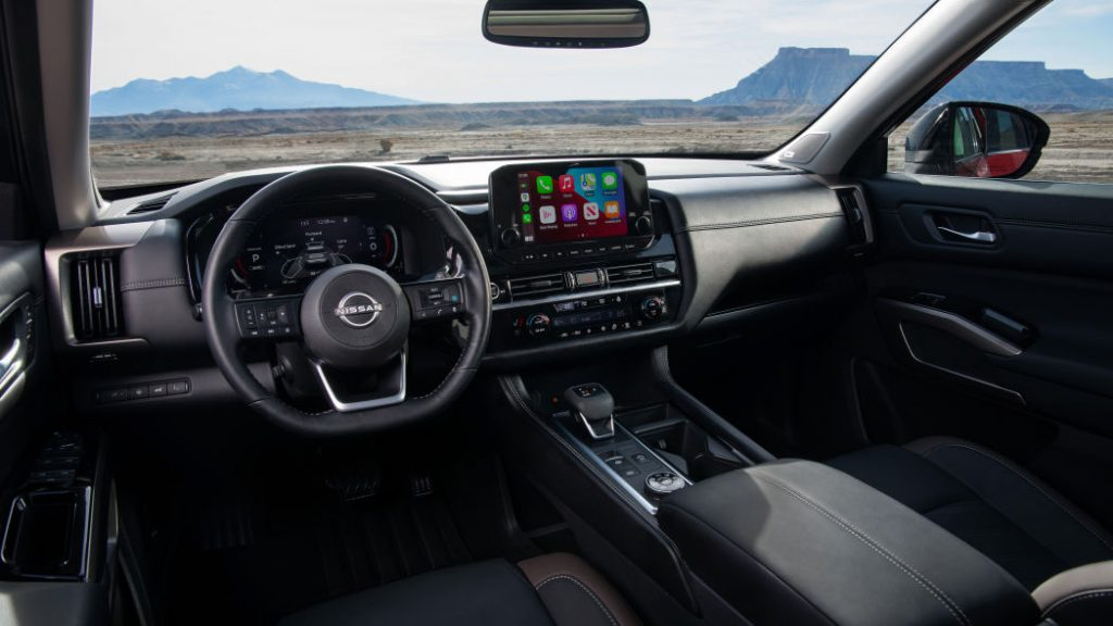 A look at the interior of the 2022 Nissan Pathfinder