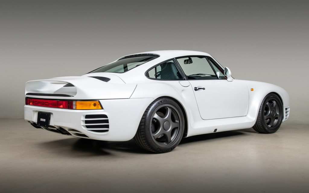 An image of a reimagined Porsche 959 produced by Canepa Motorsports.