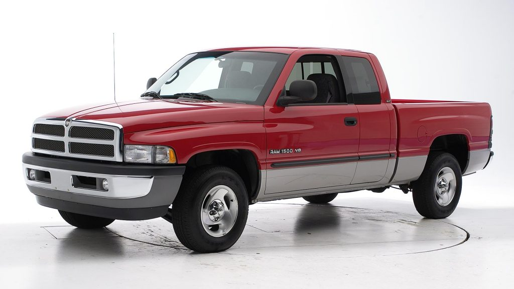 a red 2001 Dodge Ram 1500 used pickup truck