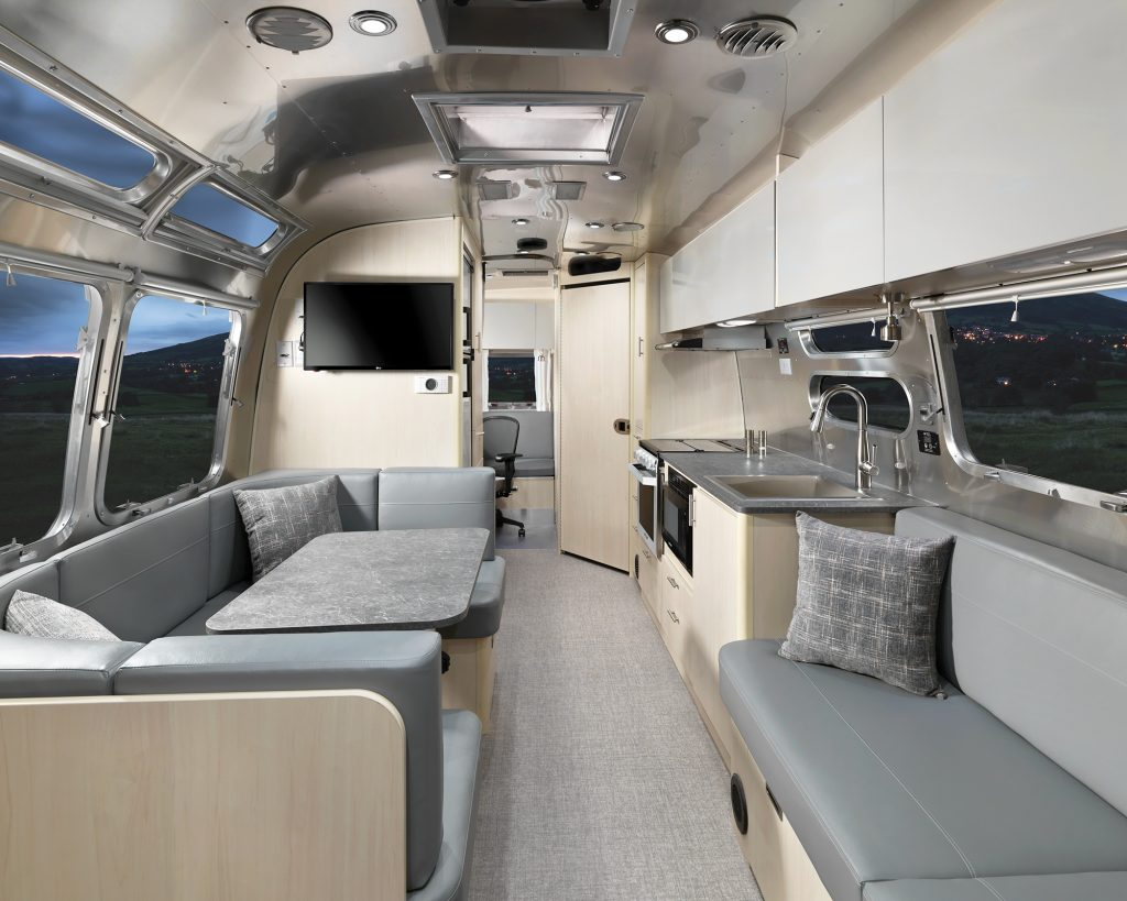 The Airstream Flying Cloud Office has plenty of sleeping areas