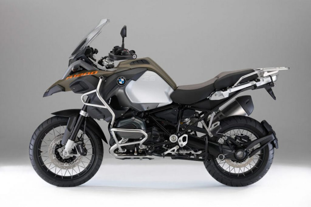 BMW R 1200 GS Adventure in dark green and silver