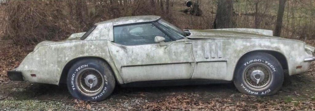 Barris Eldorette Corvette abandoned in forest