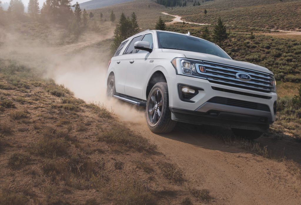 2021 Ford Expedition driving in the dirt