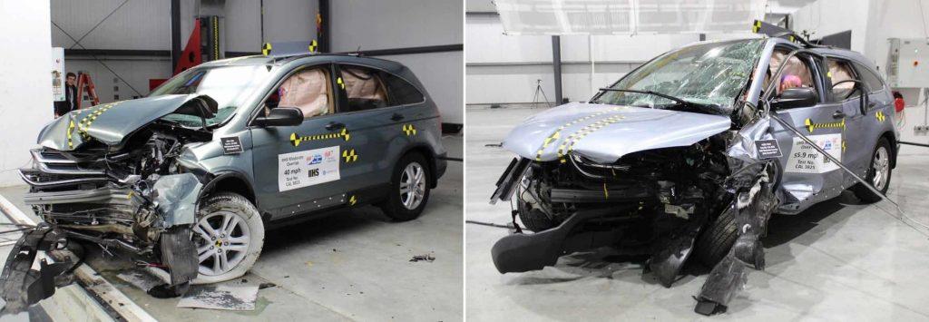 Honda CR-V Crash tested at slightly different speed reveals big problems for safety rating system
