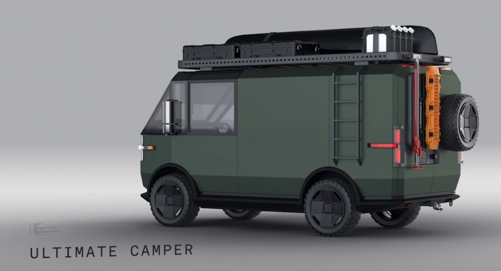 Canoo Adventure Vehicle  in Army green