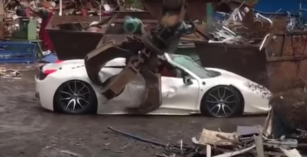 Crushed 458 Ferrari Spider