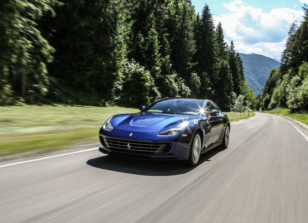 An image of a Ferrari GTC 4 Lusso outdoors.