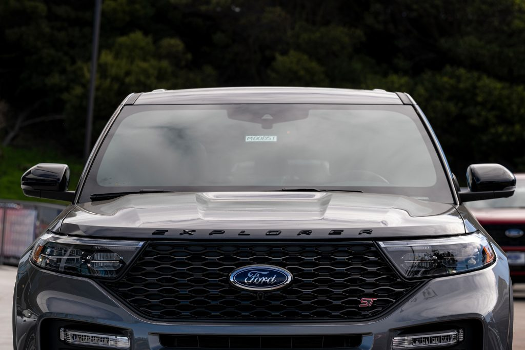 A Ford Explorer on display at dealership's lot