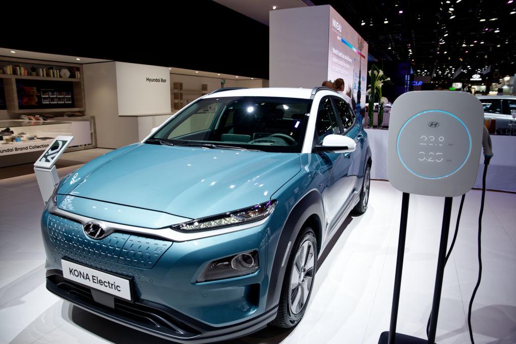 Hyundai Kona Electric on display