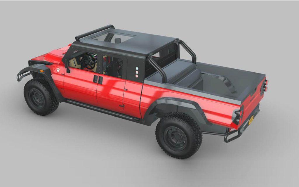 Glickenhaus hydrogen-powered Boot pickup |  Glickenhaus Boot pickup overhead view