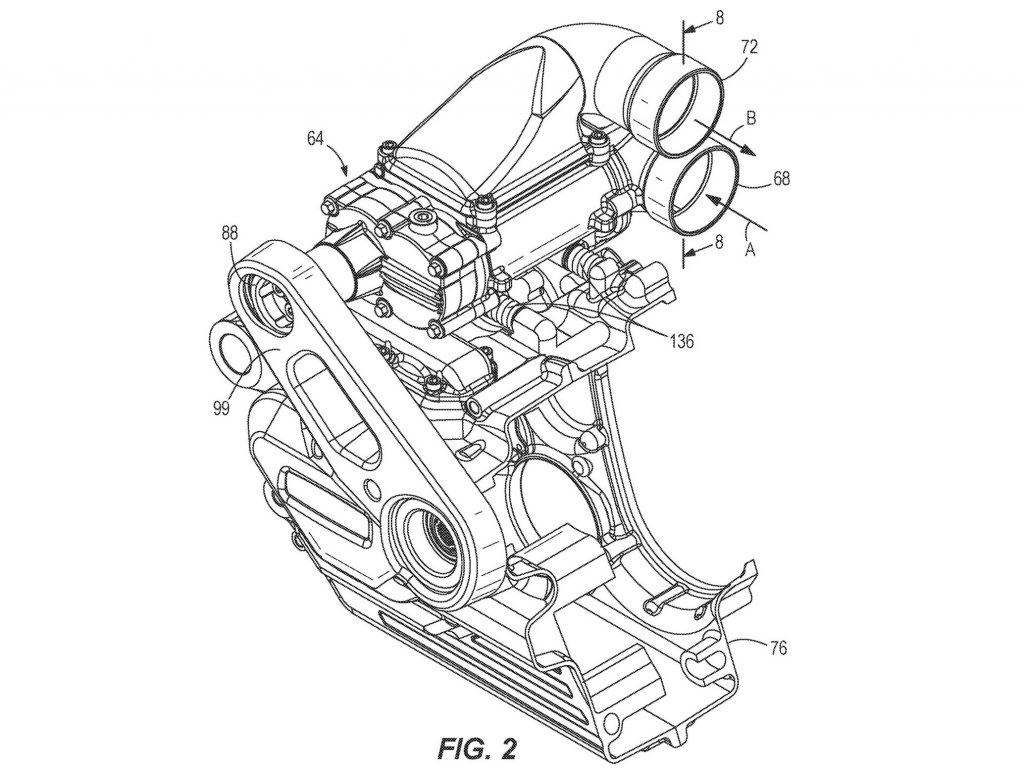 Harley-Davidson supercharger patent drawing