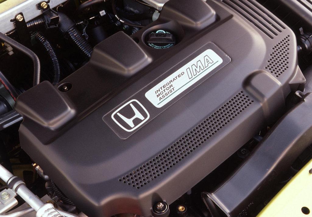 The original Honda Insight hybrid powertrain
