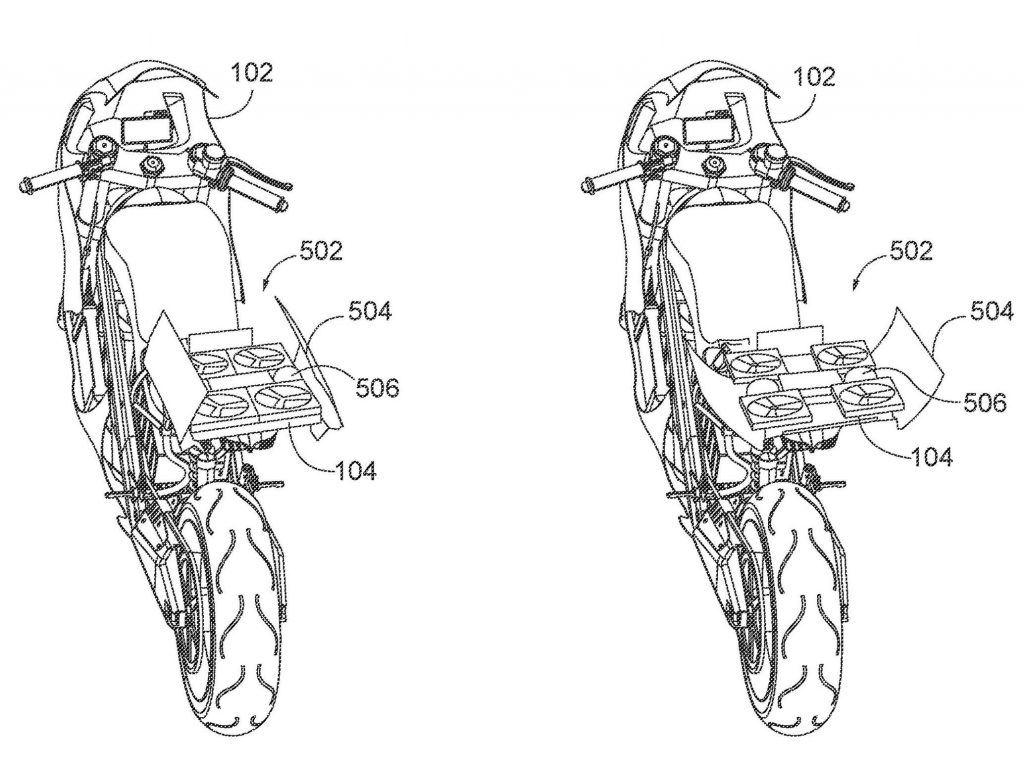 Honda submits patent application for autonomous motorcycle drone