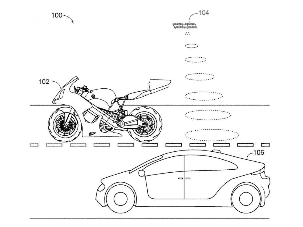 Honda drone recons traffic for rider