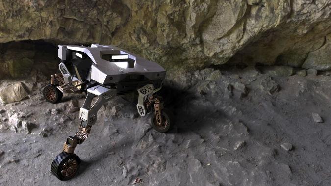Hyundai TIGER autonomous robot concept with legs stretched