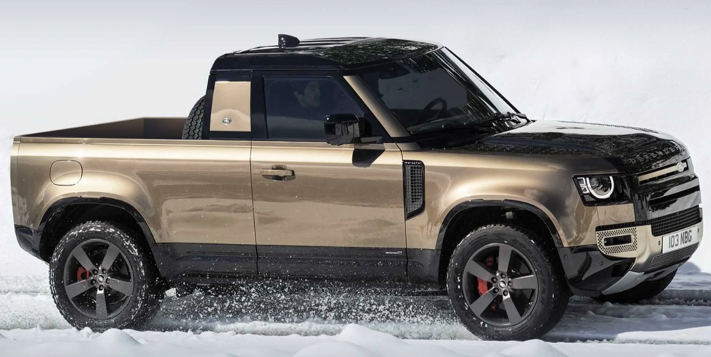 Proposed Land Rover Defender pickup