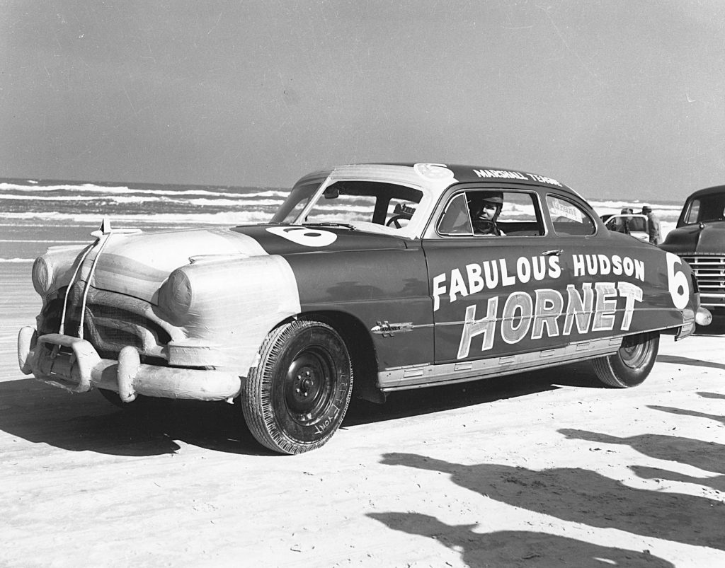 Marshall Teague's 1951 Fabulous Hudson Hornet NASCAR race car at Daytona