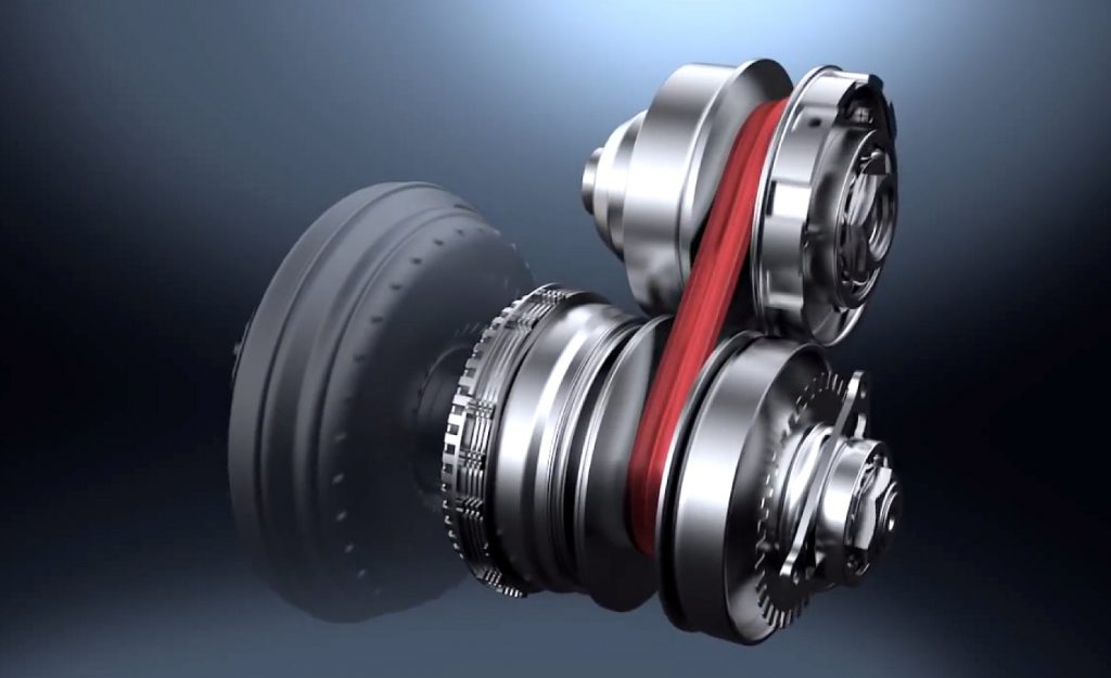 A look at the mechanical parts of the Nissan Xtronic CVT (continuously variable automatic transmission)