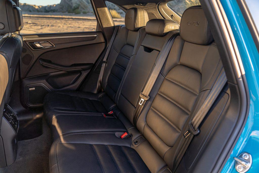 Miami Blue 2021 Porsche Macan GTS back seats