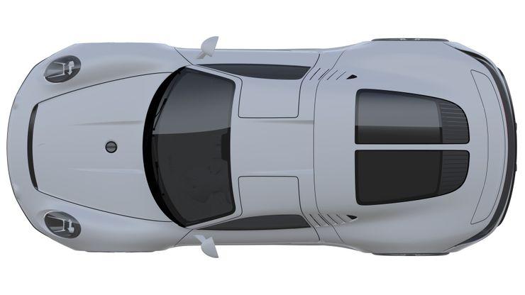 Stark white Porsche 2021 gullwing patent images