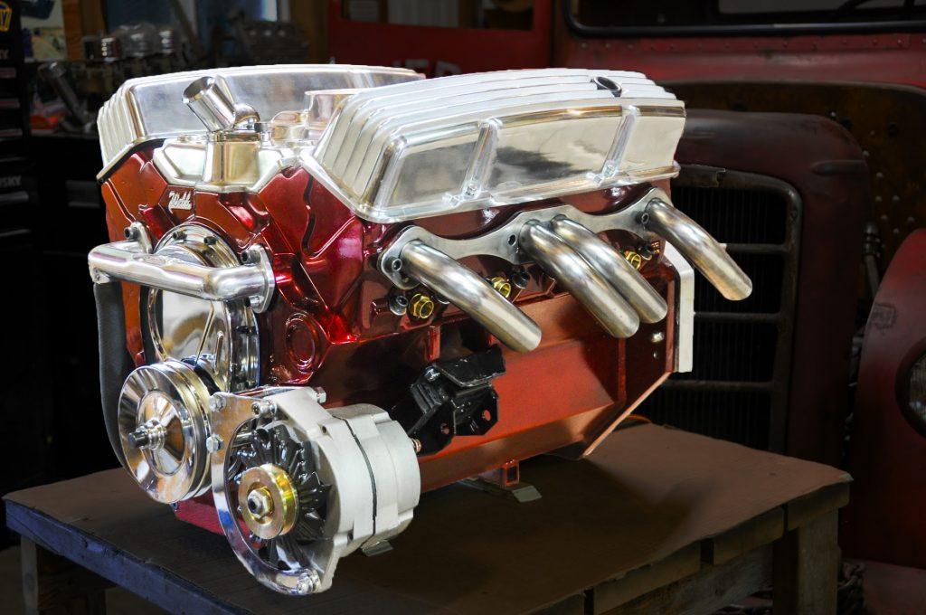 Previous small block Chevy e-crate motor