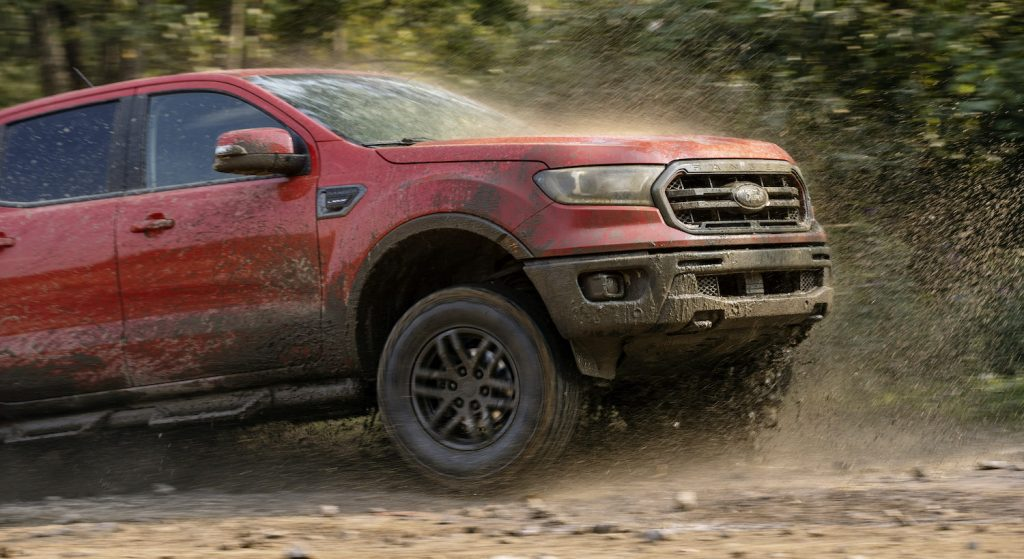 2021 Ford Ranger in the mud
